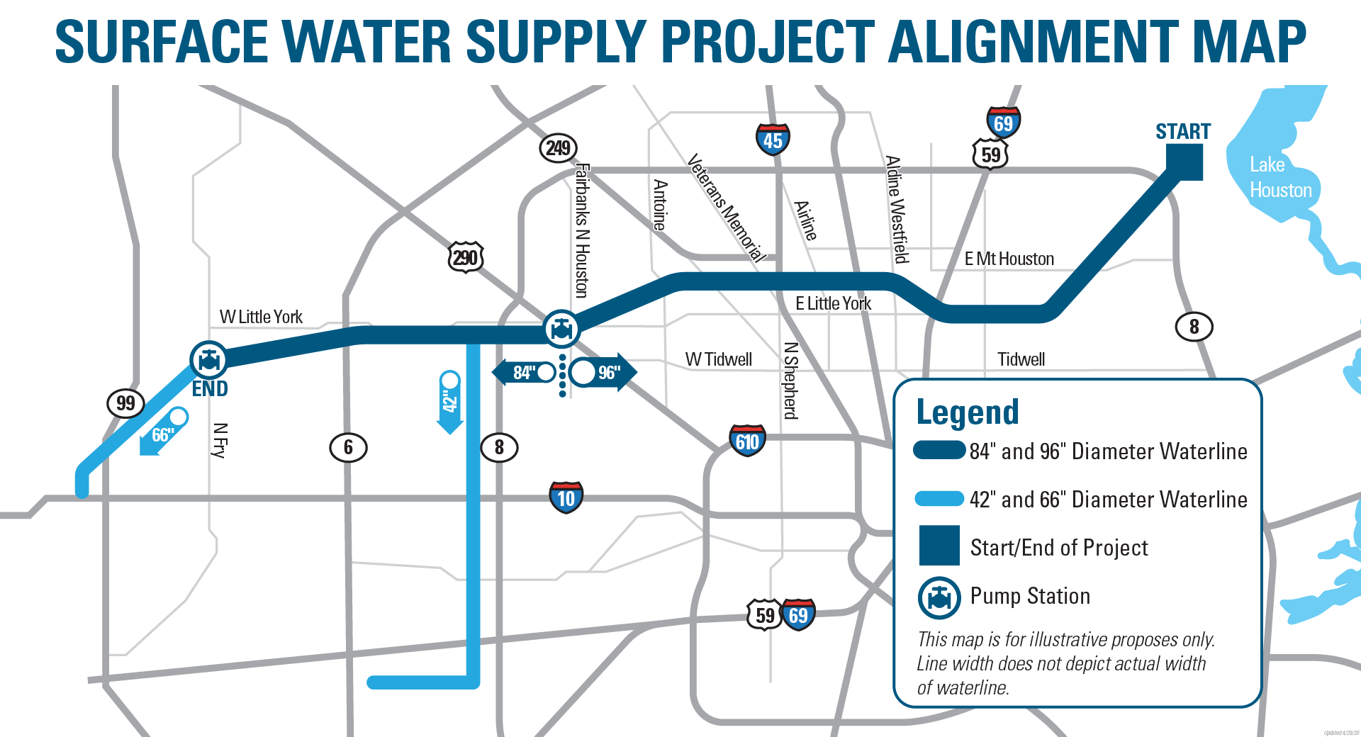Map of the Surface Water Supply Project as of 12/23/19